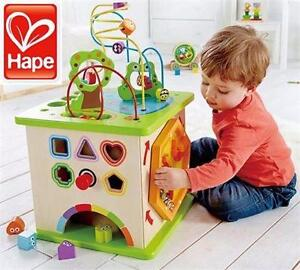 NEW HAPE COUNTRY CRITTERS PLAY CUBE   WOODEN ACTIVITY PLAY CUBE - ARTS CRAFTS KIDS WOOD GAMES TOYS PLAY 96848746