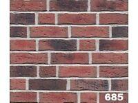 Brick tile: Antik; red/black flamed, dapped color ref 685WDF