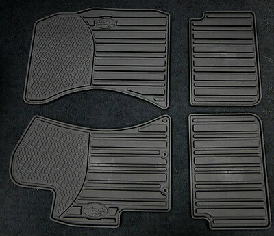 2012-2015 WRX STI Genuine Subaru All weather Heavy gauge rubber floor mats Black
