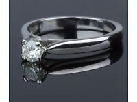 Stunning 18ct White Gold 0.24ct Diamond with higher value VC2 clarity Engagement Ring :)