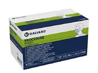 Pack of New 46 Single Use Halyard Green Procedure Masks Re.47085.