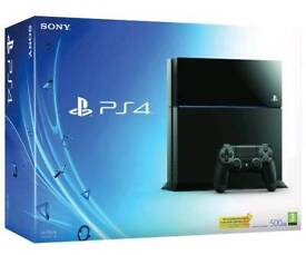 Boxed PlayStation 4 and games for sale