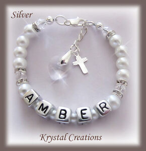 NAME bracelet Christening Baptism Confirmation gift BOYS/GIRLS Personalized