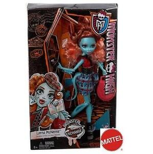 NEW MONSTER HIGH LORNA DOLL - 87998324 - MATTEL - LORNA MCNESSIE - MONSTER HIGH EXCHANGE PROGRAM - FASHION DOLLS