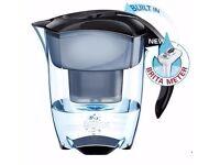 Brand New Brita Elemaris XL Water Filter Jug with Maxtra Filter and Meter – Black
