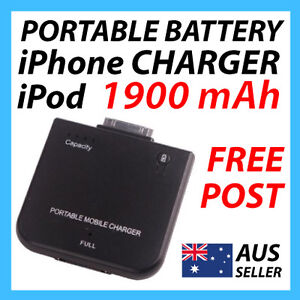 Portable Battery External Backup Charger Apple iPhone iPod 3G 4 4S  AUS BOOSTER