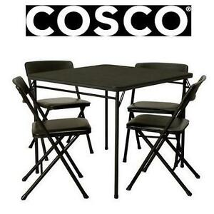 NEW COSCO 5PC TABLE  CHAIR SET FOLDING TABLE AND CHAIR SET - 4 CHAIRS 106136012