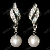 Pearl Drop Clip on Earrings