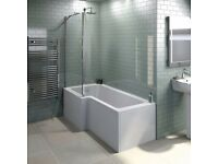 Frew left hand square shower screen