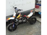 140cc stomp supermoto/mx bike loads of extras!!