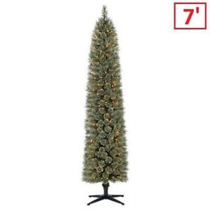 NEW 7' CASHMERE CHRISTMAS TREE 212265516 SHELTON HOLIDAY TIME PENCIL FIR