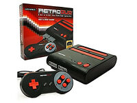 RETRO DUO NES & SNES PLAYER + MEGA DRIVE PLAYER CONSOLE BOXED AS NEW IN MINT CONDITION + GAMES