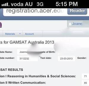 GAMSAT Tutor S1 and S2 Subiaco Subiaco Area Preview
