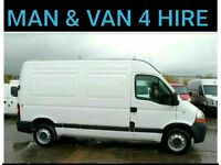 MAN and VAN for HIRE £15 low cost furniture removals waste rubbish disposal clearance sofa bed skip