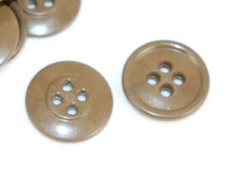 WWII US Olive drab Butterscotch Buttons 6/8 inch 19mm lot of 2 E9074