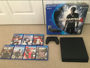 PS4 Slim 500gb with 7 games