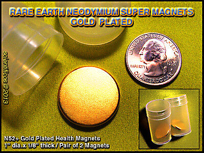 Super High Pull Magnets 1 X 1 8Th  X 2 Pieces N52  Pull  Homeopathic Health Aid