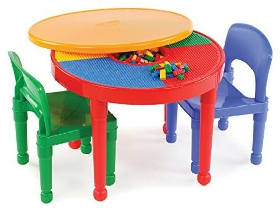 A Lego table with storage Top Cover Coffee Set Activity Kids