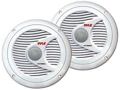 "2) NEW Pyle PLMR60W 6.5"" 150 Watt 2 Way Boat Marine Water Resistant Speakers on Rummage"
