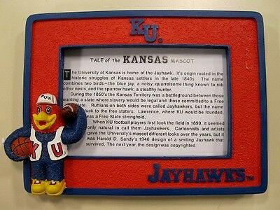 Kansas University Jayhawks College Mascot Picture Frame by Talegaters