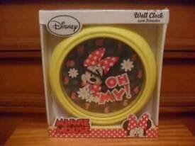 Minnie Mouse wall clocks