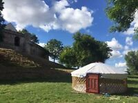 Glamping yurt for sale - 5 metre diameter - Authentic Mongolian - for Glamping or Garden Furniture