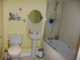 (Free)Bath,toilet, basin, pedestal, taps, shower and shower hose all in good condition 5 years old.