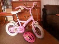 Girl's cupcake bike with helmet