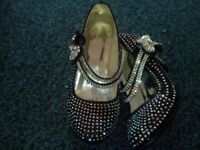 sparkly girls party shoes