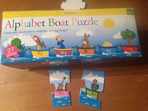 Alphabet Boat Puzzle and Ice Age Number wooden number puzzle