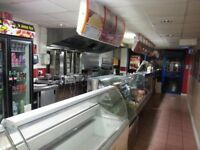 Commercial premises in the form of a takeaway on Borough Road in Burton-On-Trent.