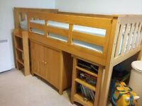 single cabin bed from NEXT cost £550 new, good used condition,