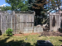 Wood Fence Repair Or New Installation