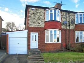 2 bed semi with garage and enclosed rear garden, elevated position overlooking Derwent Valley.