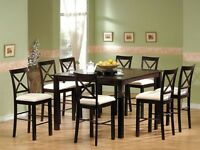 Gorgeous Pub Style Table with 8 Chairs*SOLD PPU*
