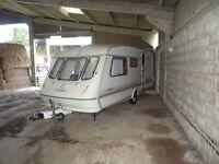 Fantastic 4/5 birth starter caravan - stored inside. Great condition!