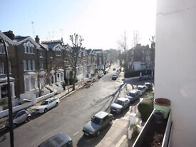 Sunny 2 bedroom duplex on top 2 floors, in heart of Primrose Hill, close to tube with parking space