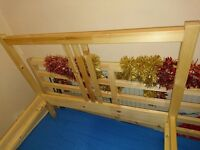 Fjellse SINGLE standard bed frame with HAFSLO bed mattres