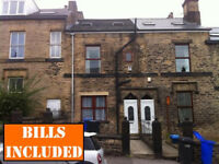 STUDENT LET - Large 6 BEDROOMED student house available - all large rooms. Near uni. BILLS INCLUDED