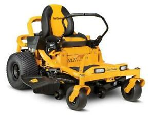 2019 Cub Cadet Ultima series ZT1 50 inch Zero Turn - only $98.00 monthly OAC 0%