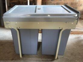 3 compartment, genuine Hafele undercounter waste bin