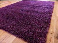 Lovely purple shaggy rug 120 X 170 CM (4 FT X 5 FT 7)