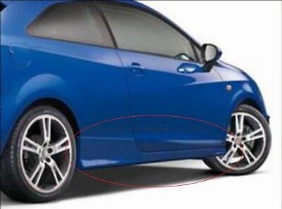 GENUINE SEAT IBIZA 6J SC 3 DOOR ACCESSORY EMOTION RED PAINTED SIDE SKIRTS SET