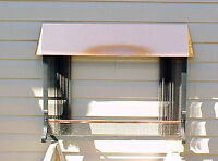 """Vintage Copper Fireplace Surround Hearth Screen 36"""" W x 30"""" H"""