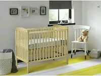 Kinder valley Sydney cot natural pine. FREE mattress. All brand new in sealed boxes.