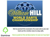 William Hill World Darts Championship -- Read the ad description before replying!!
