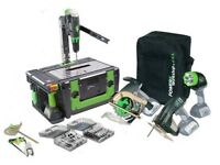 Power tool set with case and bag and 3 batteries