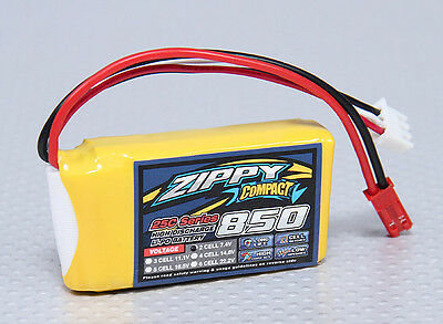 New Zippy Compact 850mAh 2S 7.4V 25C 35C Lipo Battery Pack RC JST USA