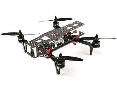 DYS 250 QUADCOPTER CARBON FIBER RACE DRONE W FOLDING ARMS & CASE PNF ASSEMBLED