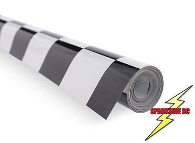 Chequered Black and White 30mm sq Model Covering Film, RC Aircraft, 2.5m x 640mm